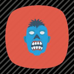 clown, creepy, monster, zombie icon