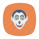 clown, scary, spooky, zombie icon
