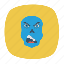 clown, halloween, scull, zombie icon