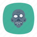 clown, devil, skull, zombie icon