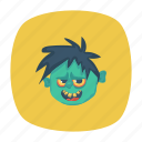 clown, halloween, skull, zombie icon
