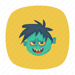 clown, halloween, skull, zombie icon