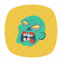 monster, scary, spooky, vampire icon