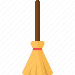 besom, broom, clean, cleaning, halloween, witch icon