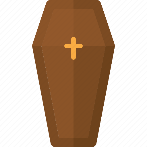 coffin, dead, death, die, funeral, halloween icon