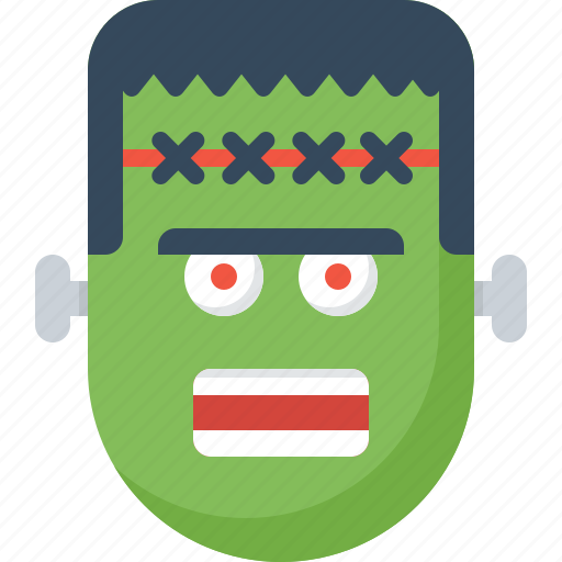 dead, frankenstein, green, halloween, monster icon