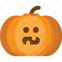 halloween, jack lantern, orange, pumpkin, vegetable icon