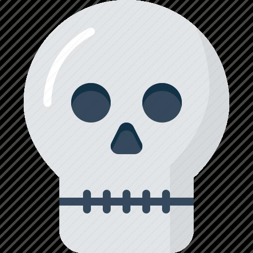 dead, death, halloween, skeleton, skull icon