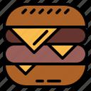 burger, cheese, fast, food, junk