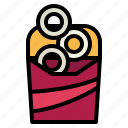 fast, food, junk, onion, ring icon