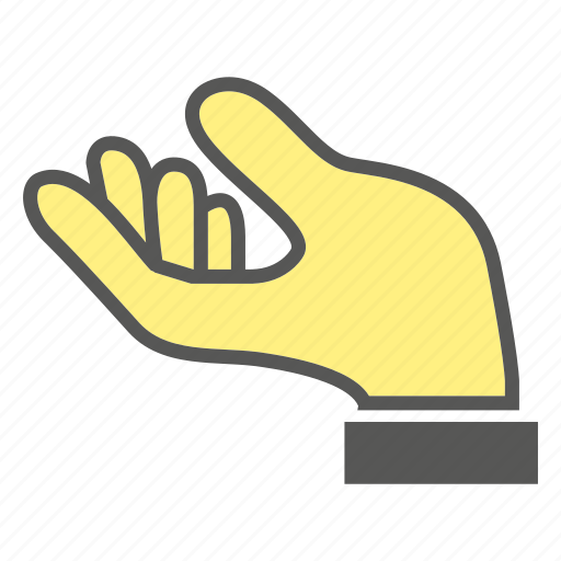 beg, finger, gesture, hand, plead icon