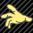 hand, crush, finger, pick, mash, gesture