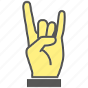 finger, gesture, hand, love icon