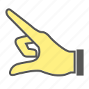 finger, gesture, hand icon