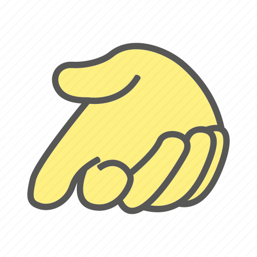 beg, clasp, finger, gesture, hand, knock, plead icon