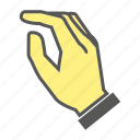 finger, gesture, hand, knock icon