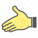 clasp, finger, gesture, hand icon