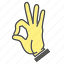 approve, finger, gesture, hand, ok, okay icon