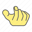 beg, finger, gesture, hand icon