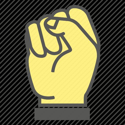 finger, fist, gesture, hand, hit, punch, smash icon