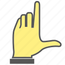 finger, gesture, hand, index finger icon