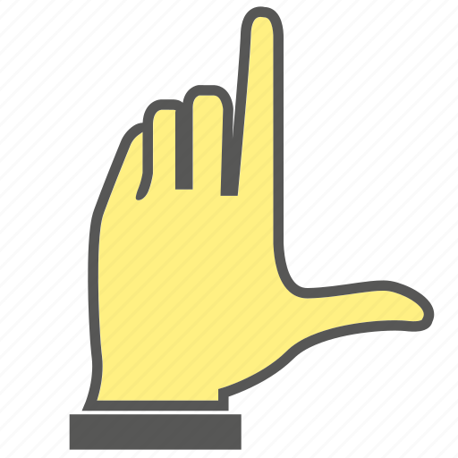 finger, gesture, hand, index finger icon