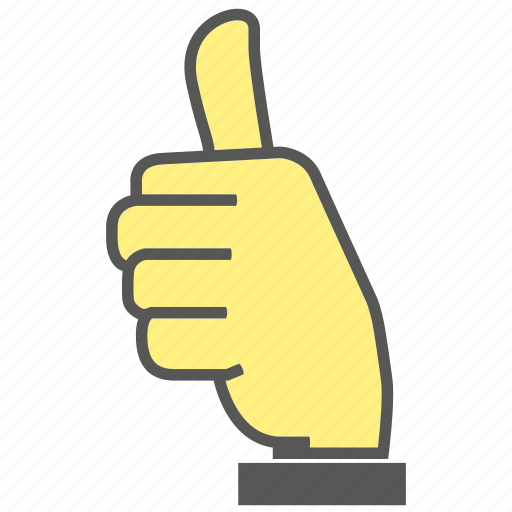 finger, gesture, hand, like, thumb, thumb up icon