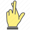 finger, gesture, hand, lie icon