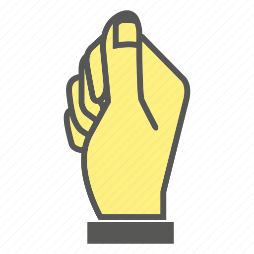 finger, fist, gesture, hand, hit, punch, smash icon