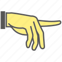 finger, gesture, hand, index, pointing icon
