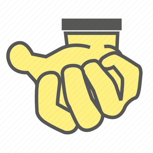 crush, finger, gesture, hand, mash icon