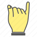 finger, gesture, hand, little finger, pinkie icon