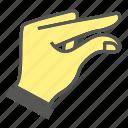 finger, gesture, hand, mini, small, tiny icon
