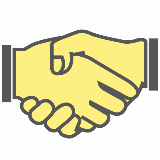 clasp, deal, finger, gesture, hand, shake hand icon