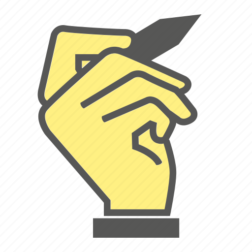finger, gesture, hand, pen, sign, writing icon