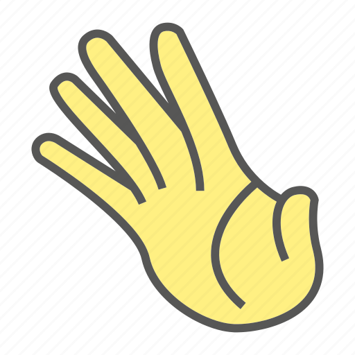 finger, five, gesture, hand icon