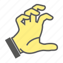 crush, finger, gesture, hand, mash icon