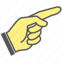 finger, gesture, hand, index, index finger, pointing icon