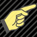 finger, gesture, hand, index, index finger, pointing icon