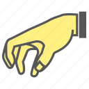 crush, finger, gesture, hand, mash, pick icon