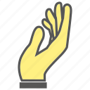 beg, finger, gesture, give, hand, plead icon