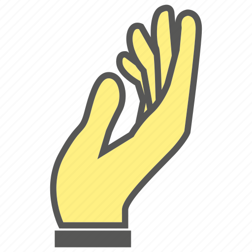 Give, beg, hand, finger, plead, gesture icon