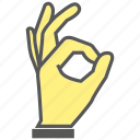 finger, gesture, hand, ok, okay icon