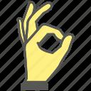 ok, okay, finger, gesture, hand