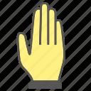 five, finger, gesture, hand