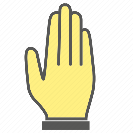 Five, finger, gesture, hand icon
