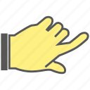 finger, gesture, hand, index finger, knock icon