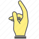 finger, gesture, hand, index finger, touch icon