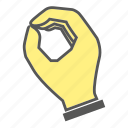 finger, gesture, hand, handful icon