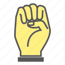 finger, fist, gesture, hand, handful, hit, punch icon